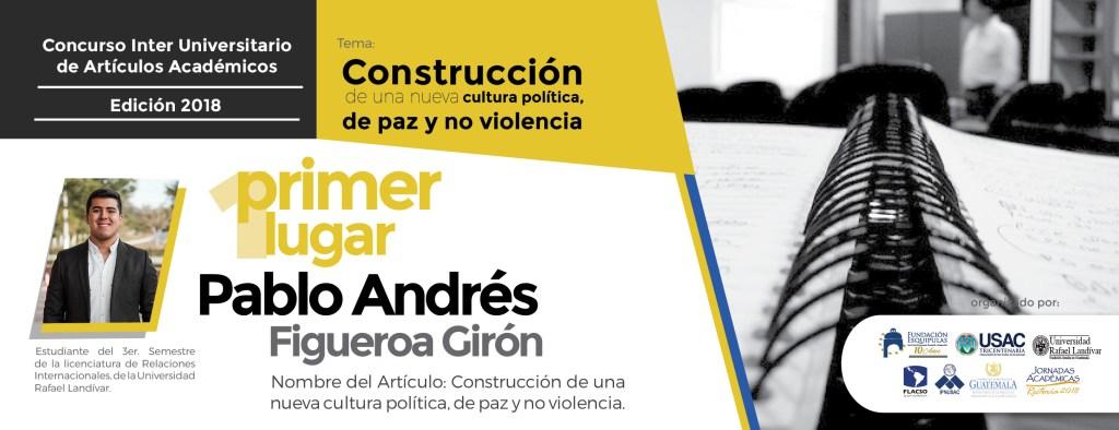 Pablo Andrés Figueroa Girón es el ganador del concurso inter universitario