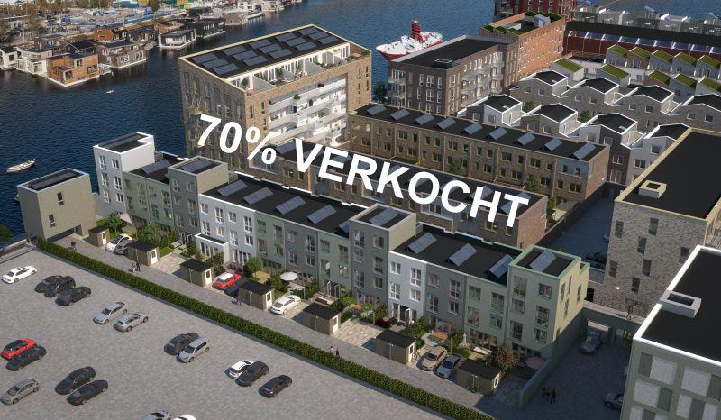 De Vrije Kade Amsterdam 70% verkocht