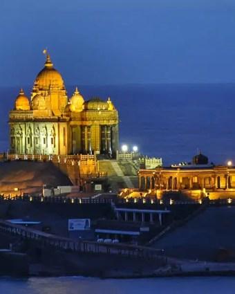 Munnar, Thekkady, Alappuzha, Kovalam, Thiruvananthapuram and Kanyakumari Holiday Package Tour