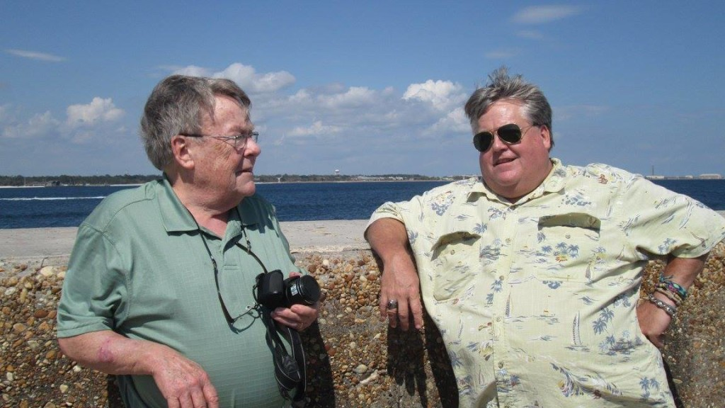 Hubby and his dad at Fort Pickens by Sherry Fundin