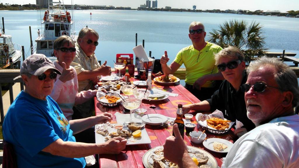 Dinner at Shaggy's on Pensacola Beach