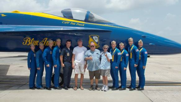 Blue Angels pilots and us (c) Blue Angels photographer