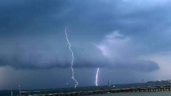 Thunderstorm over Pensacola Bay (c) sherry j fundin