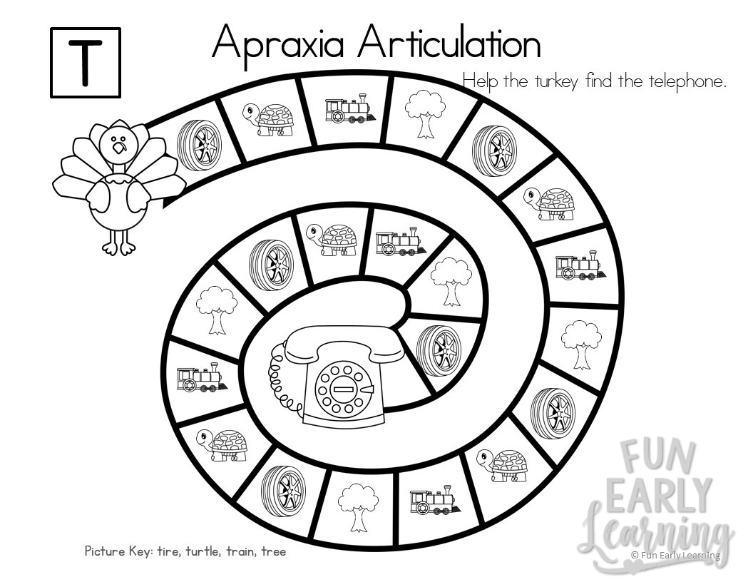Apraxia Articulation Games N Z Initial Sounds