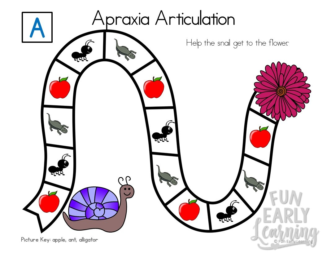 Apraxia Articulation Games A M Initial Sounds