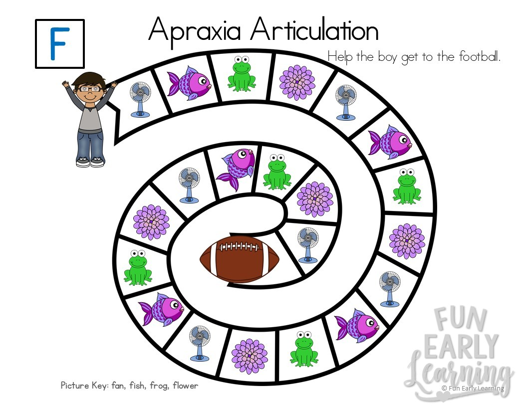 Apraxia Articulation Games A M Initial Sounds