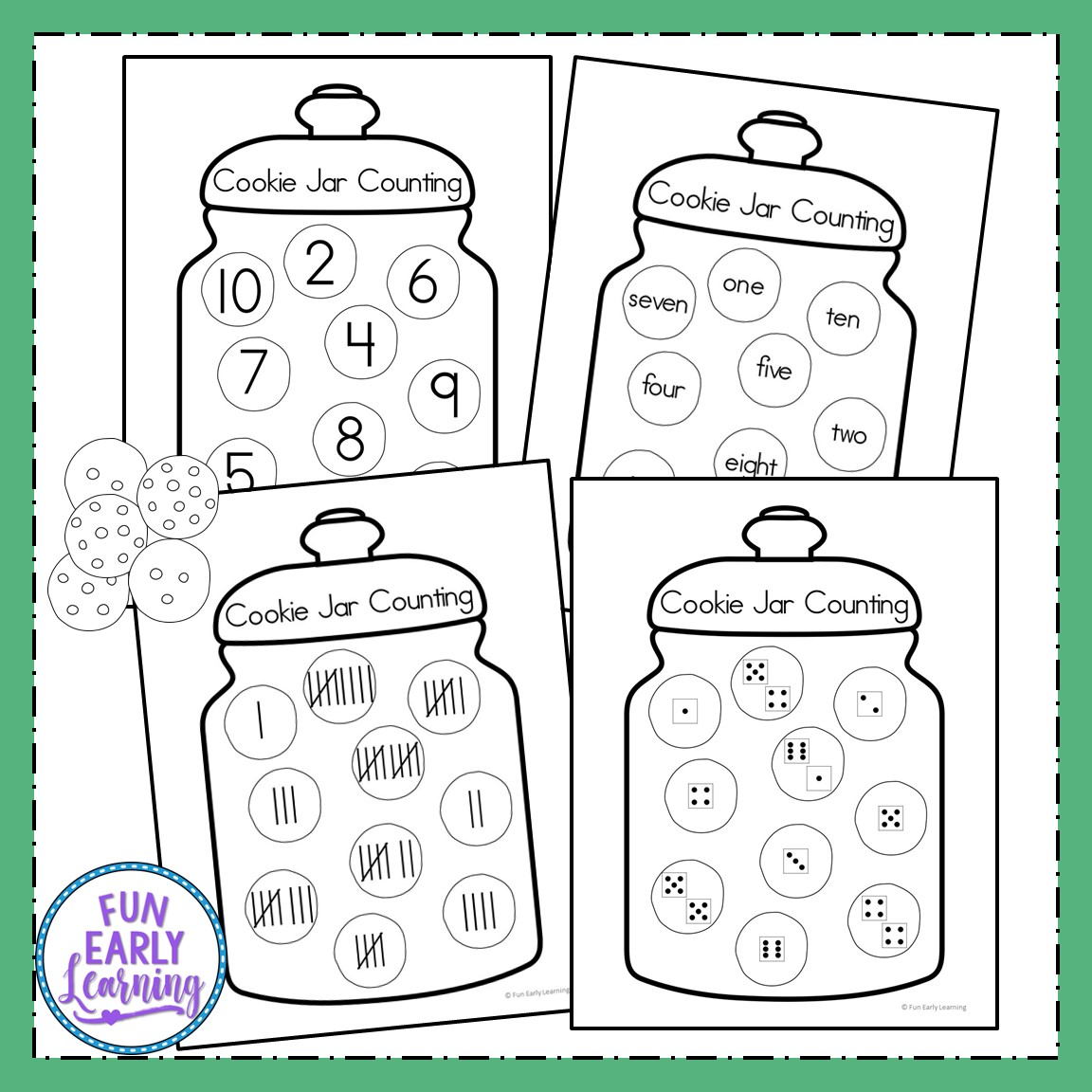 Fun Cookie Jar Counting Activity For Preschool And
