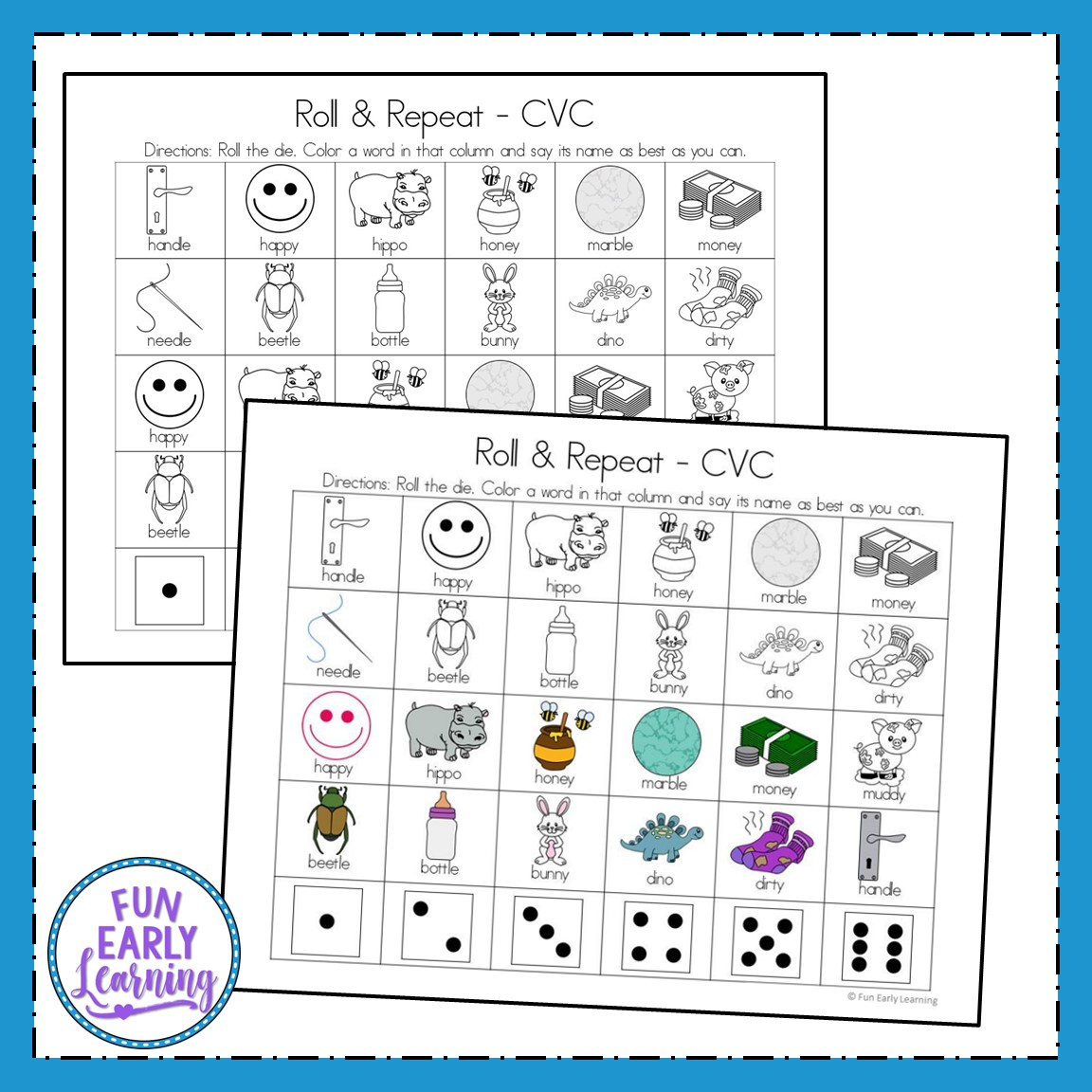 Apraxia Roll And Repeat For Vc Cv And Cvc Words For Speech Therapy