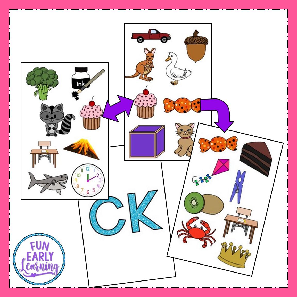 Matching Initial Sounds Preschool Worksheet