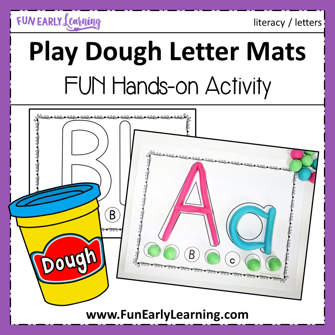 Play Dough Letter Mats For Letter Identification And