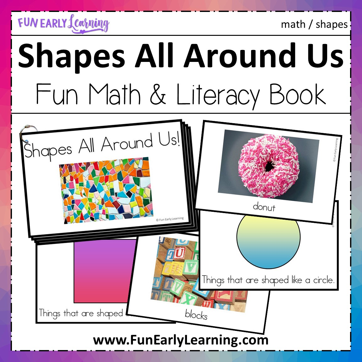 Shapes All Around Us Book For Toddlers Preschool And