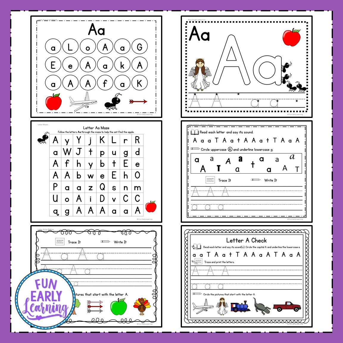 Learning Letters Hands On Activities Binder For Preschool