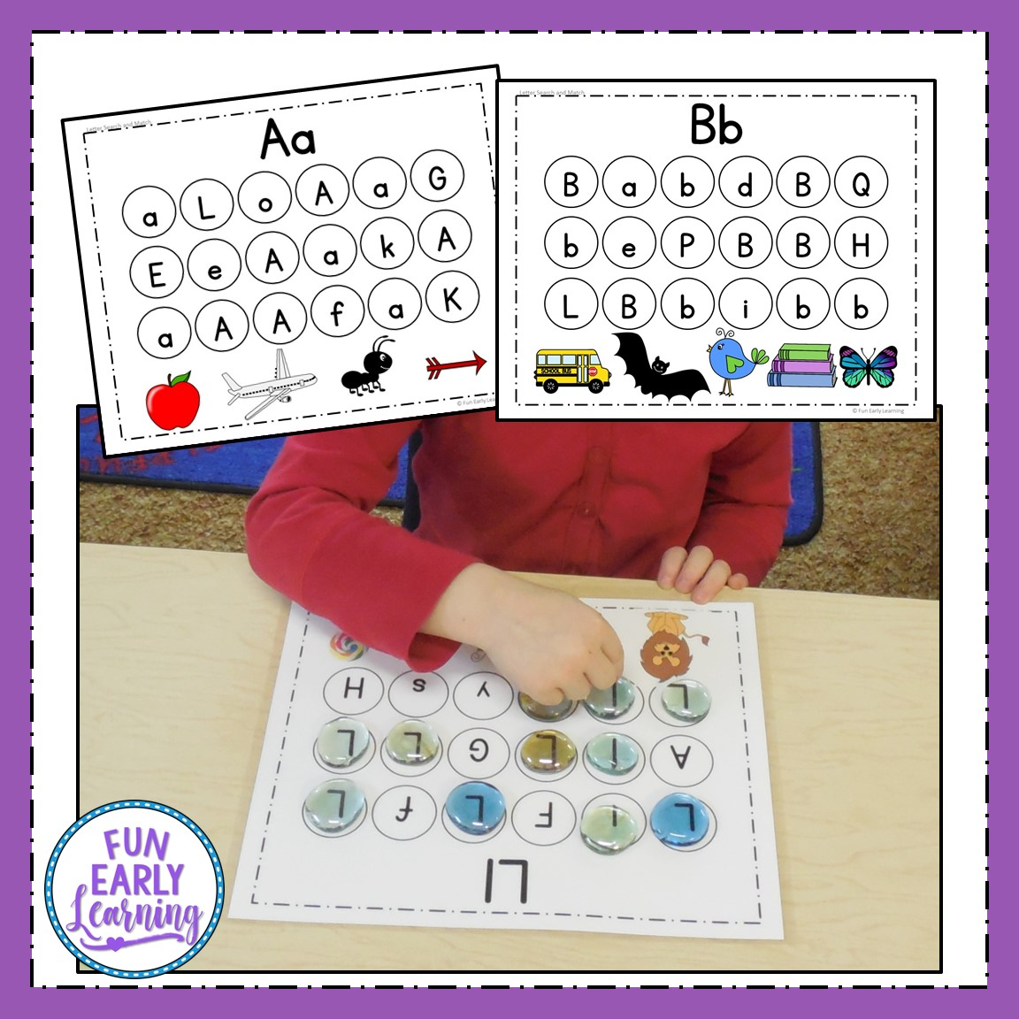 Letter Search And Match Alphabet Activity For Preschool
