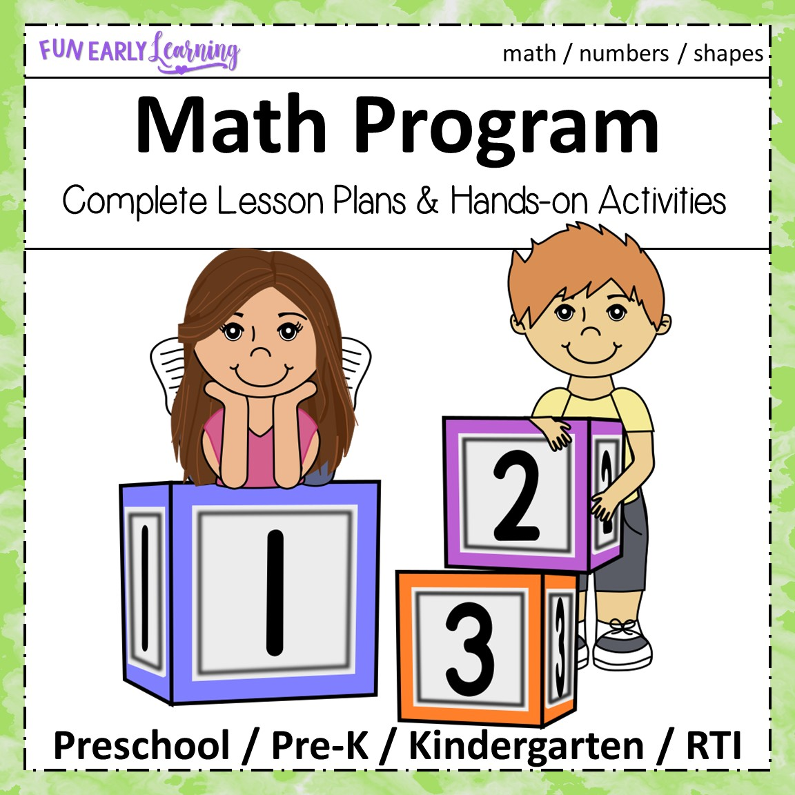 Preschool Math Program Curriculum With Guided Lessons