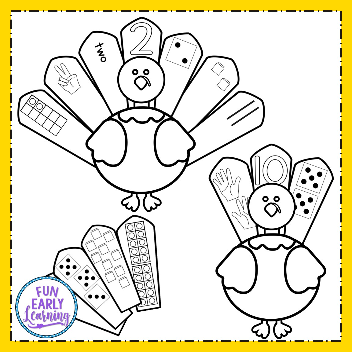 Turkey Number Sense Thanksgiving Math Activity For