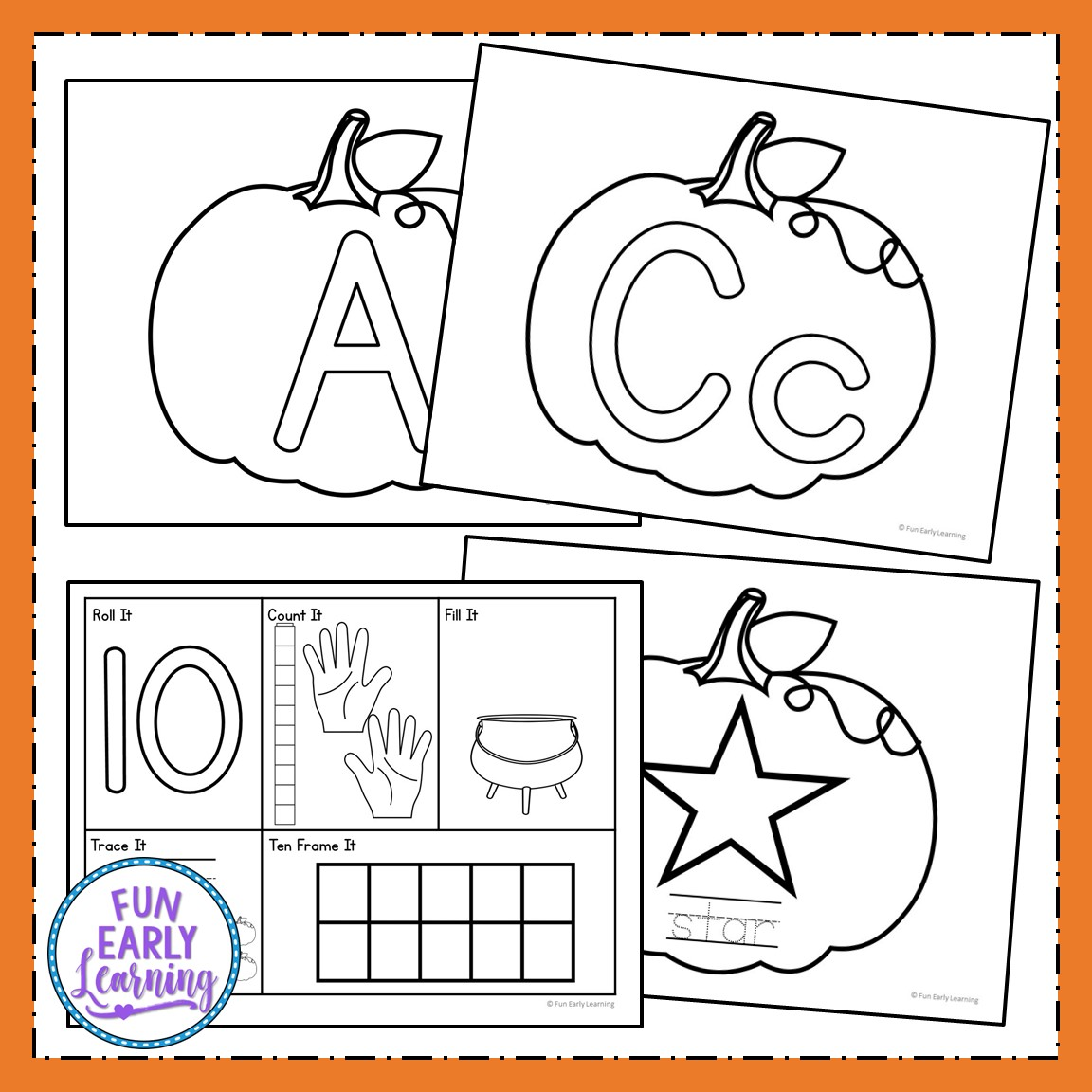 Play Dough Fun With Pumpkins Math And Literacy Activities
