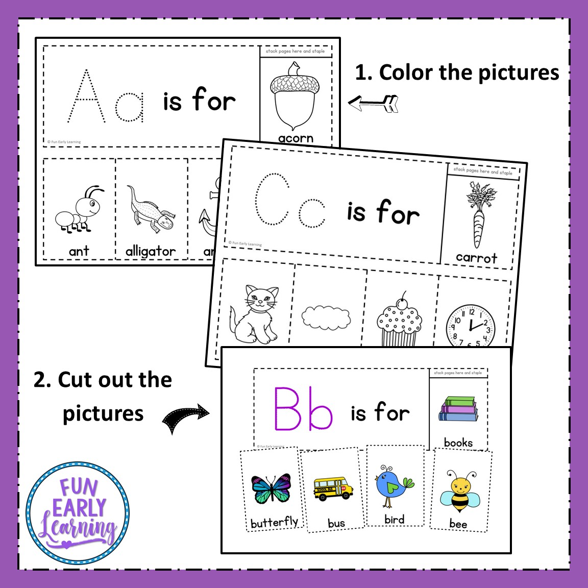 Alphabet Flip Books Letters And Phonics Activity For