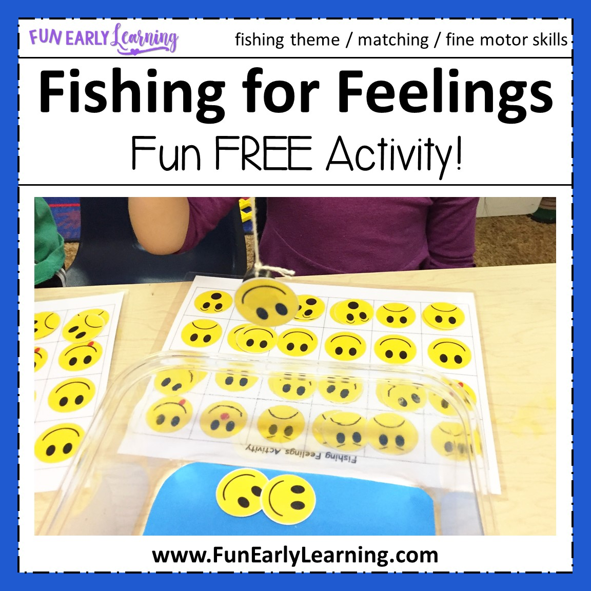Fishing For Feelings Game Free Printable For Preschool And