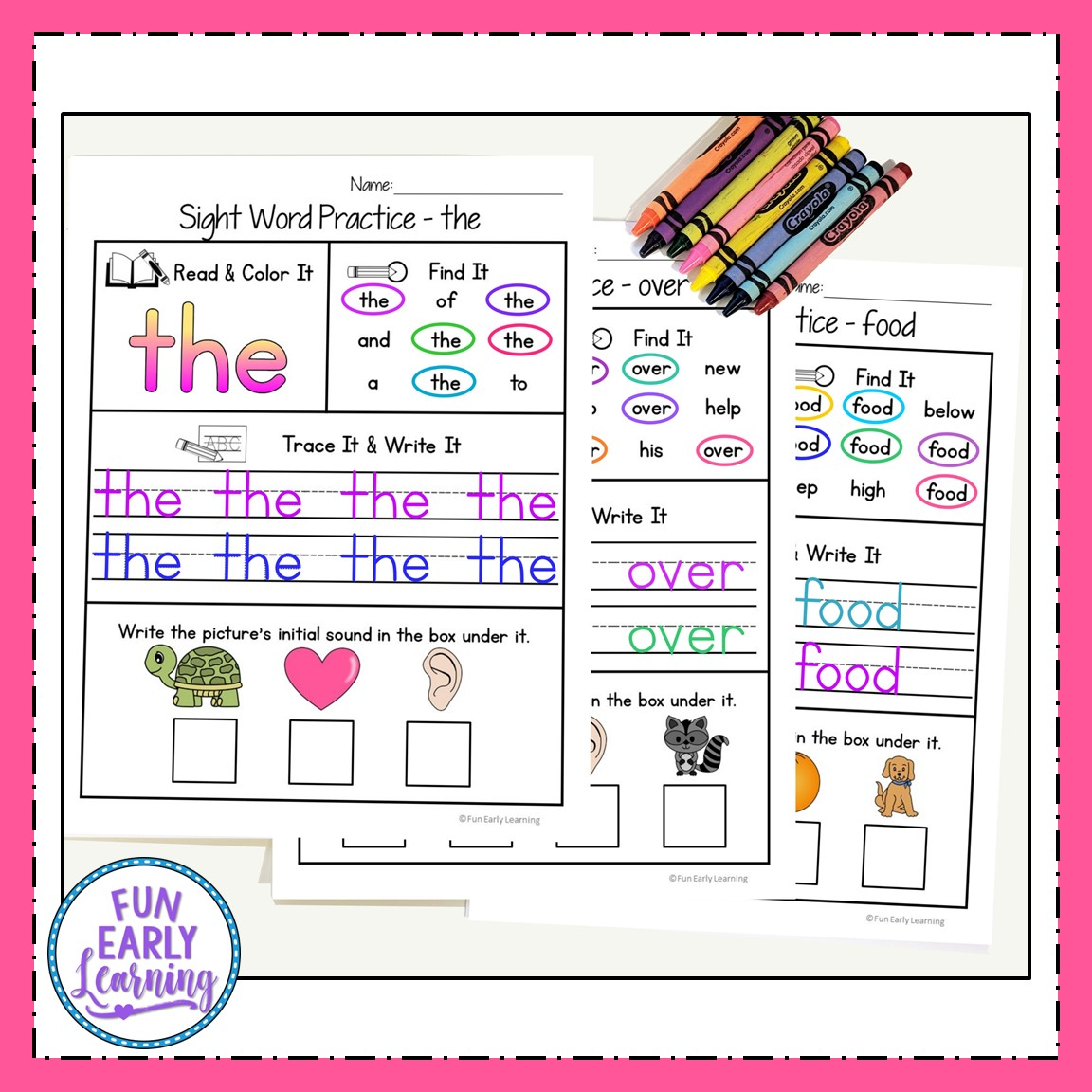Sight Word Practice Bundle For Fry S 1st 2nd And 3rd 100
