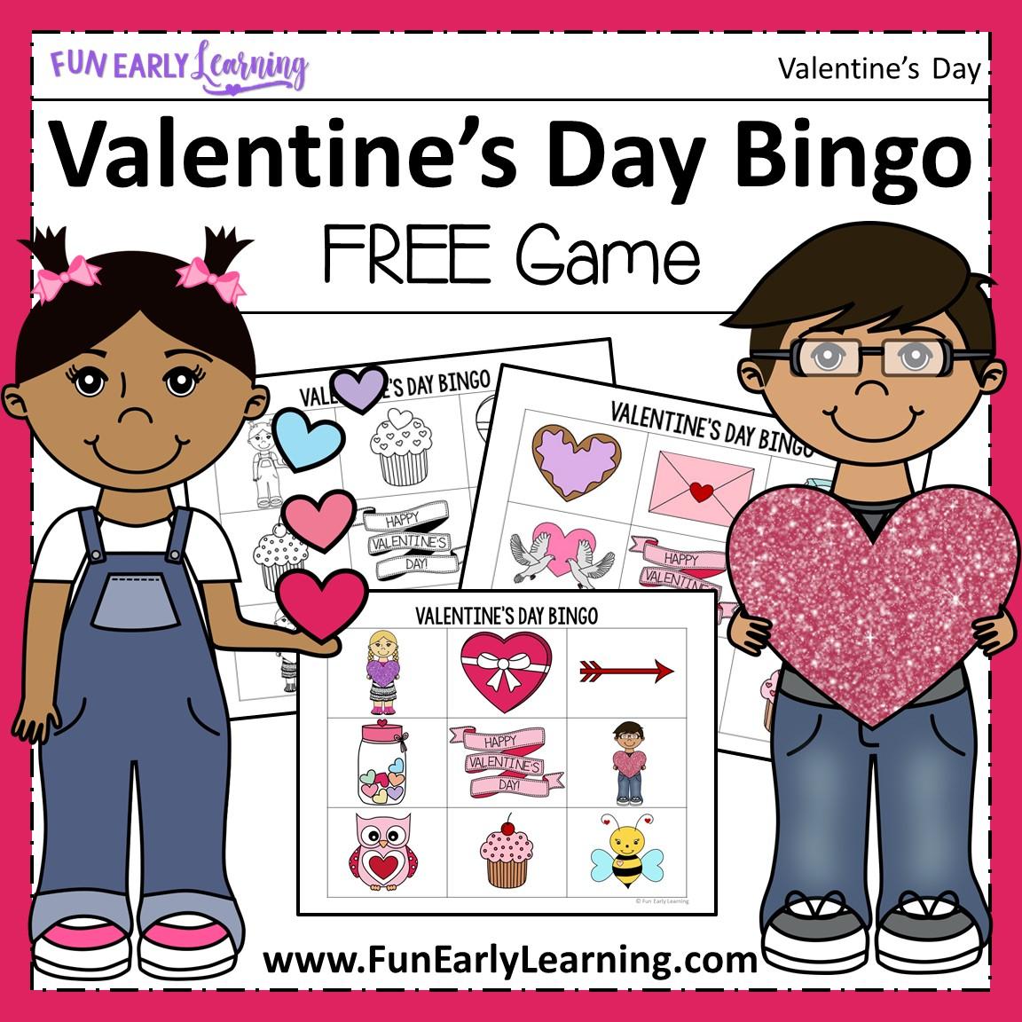 Valentine S Day Bingo Free Printable For Preschool And