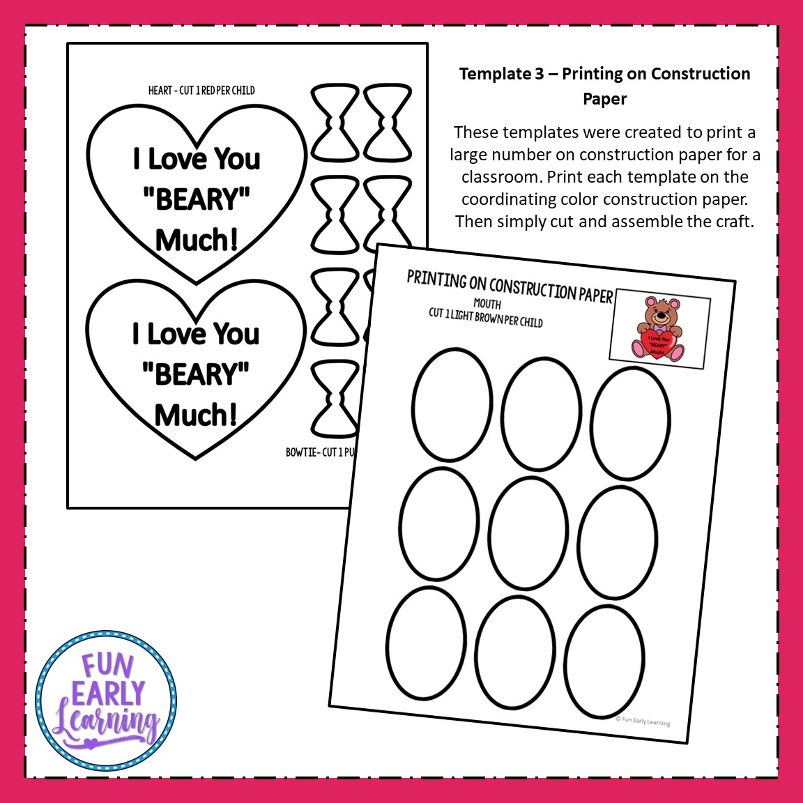 I Love You Beary Much Easy Valentine S Day Craft For Kids