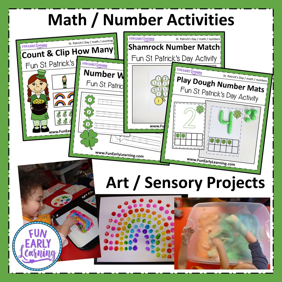St Patrick S Day Bundle Of Letters Math Art Science