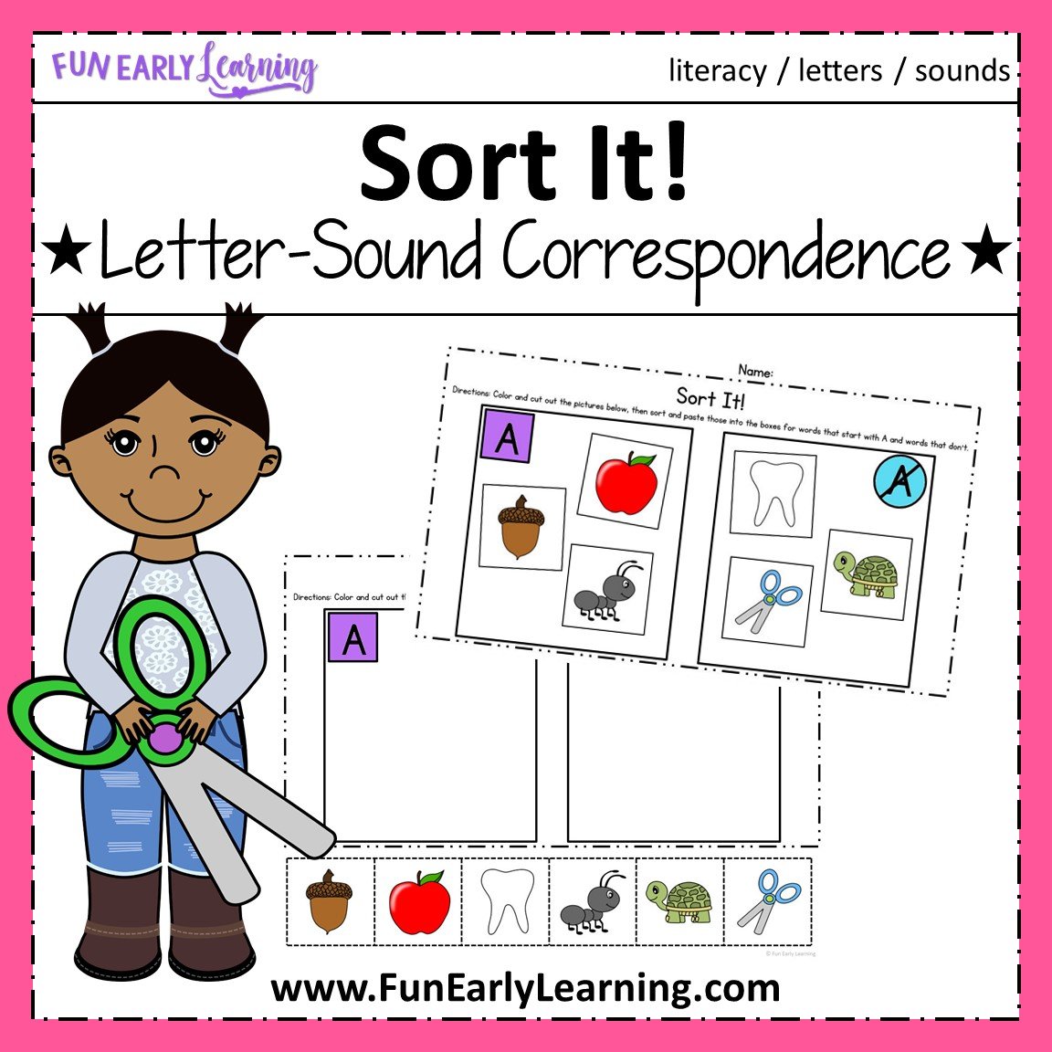 Sort It Letter Sound Correspondence No Prep Activity For