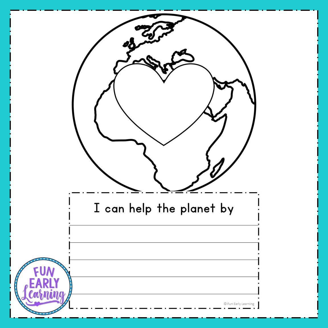 Earth Day Craft And Writing Prompts For Preschool And