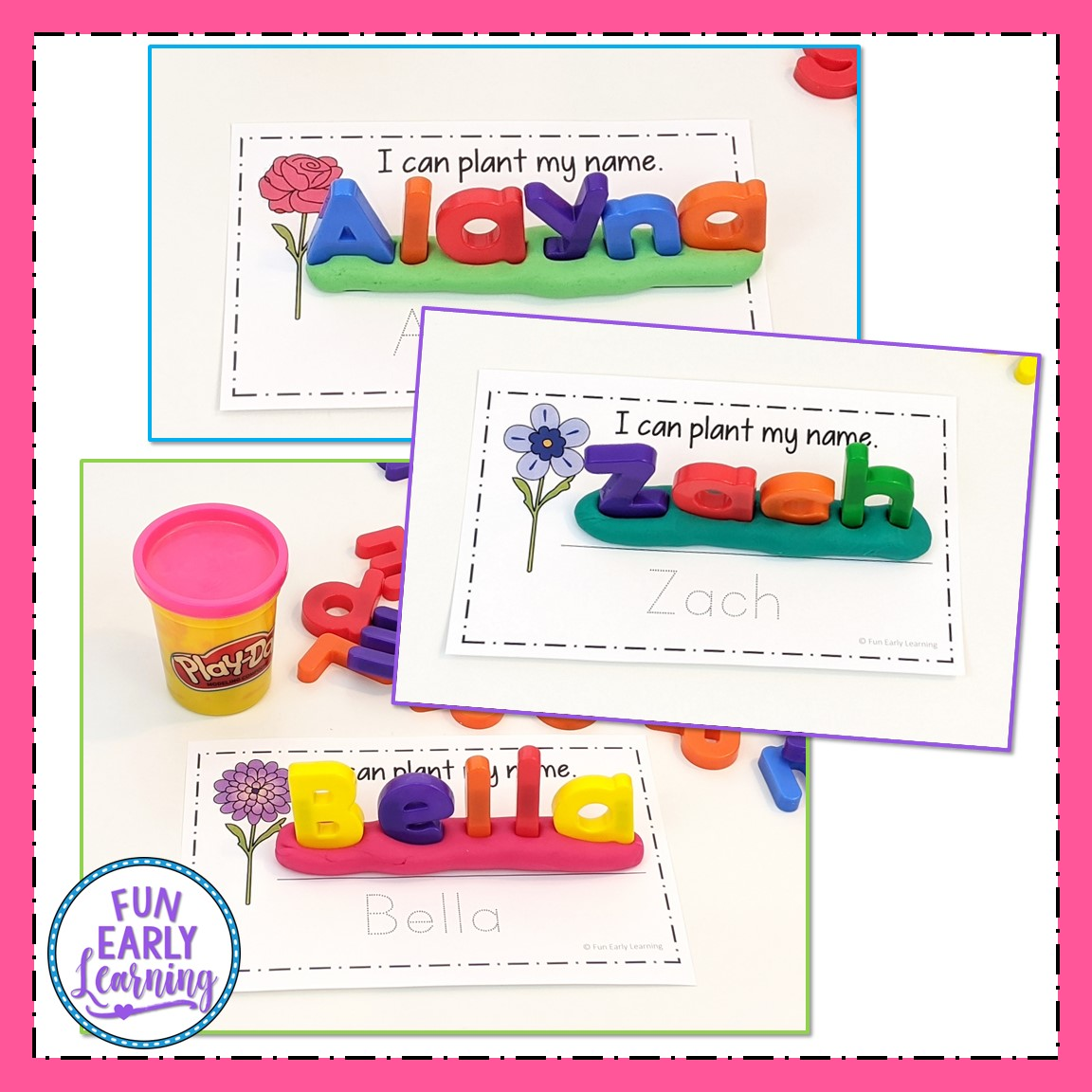 Editable Planting Names And Words Activities For Preschool