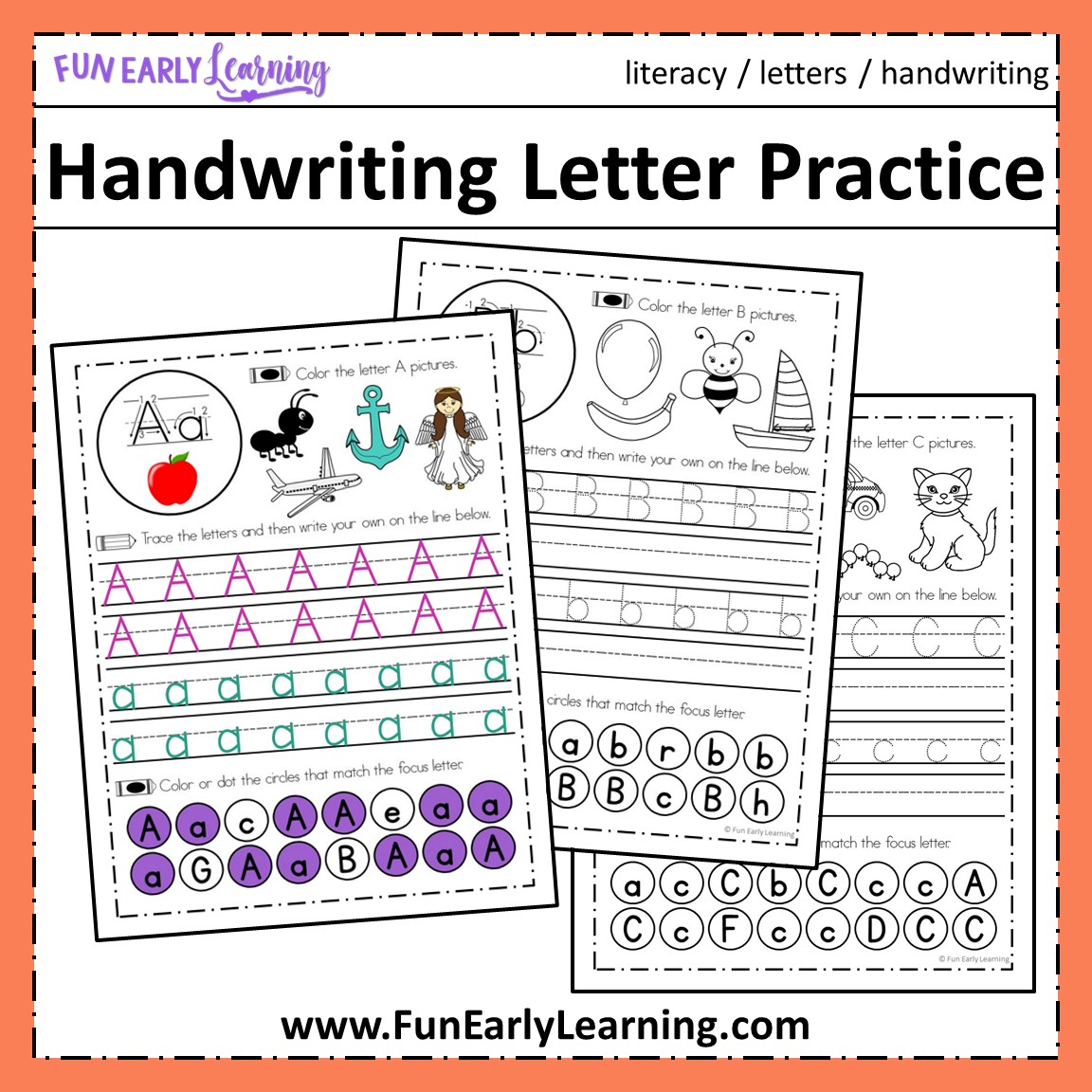Handwriting Letter Practice For Preschool Prek And