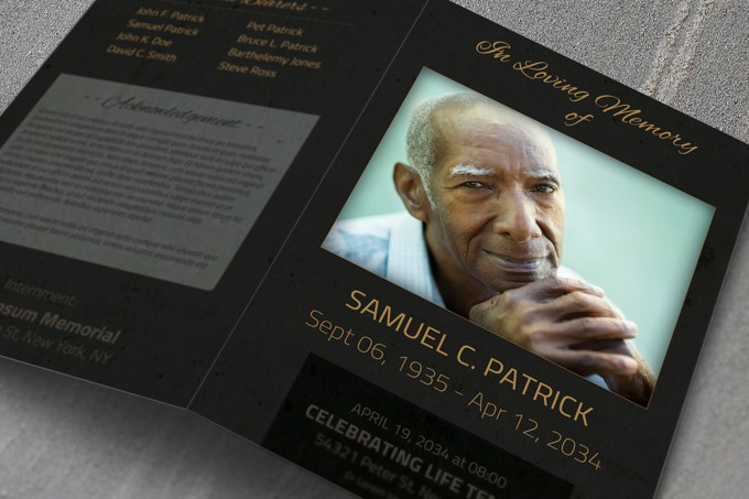 Memorial Template. butterfly memorial program funeral pamphlets ...