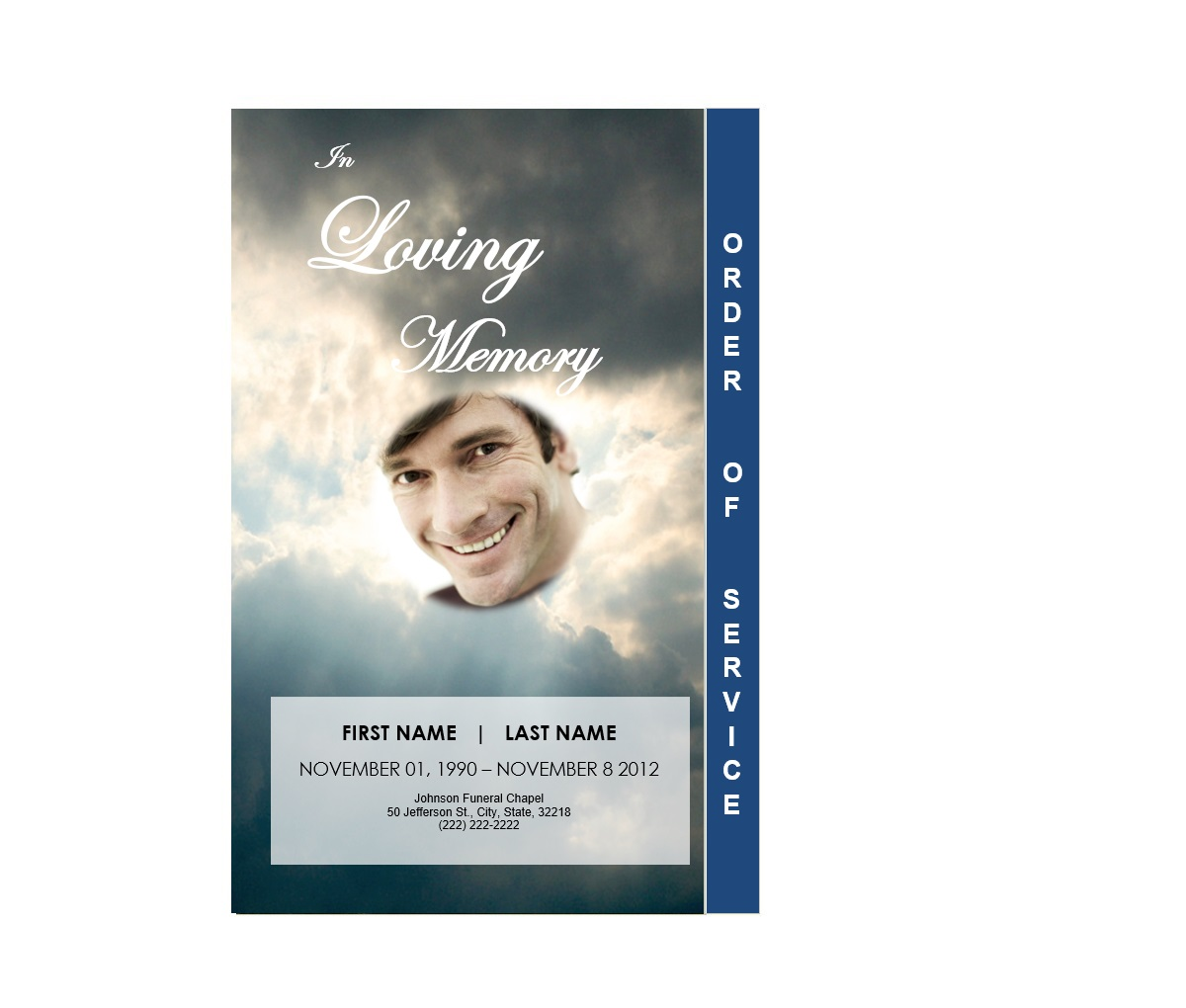 2 Page Graduated Outdoor 3 Program Funeral Pamphlets