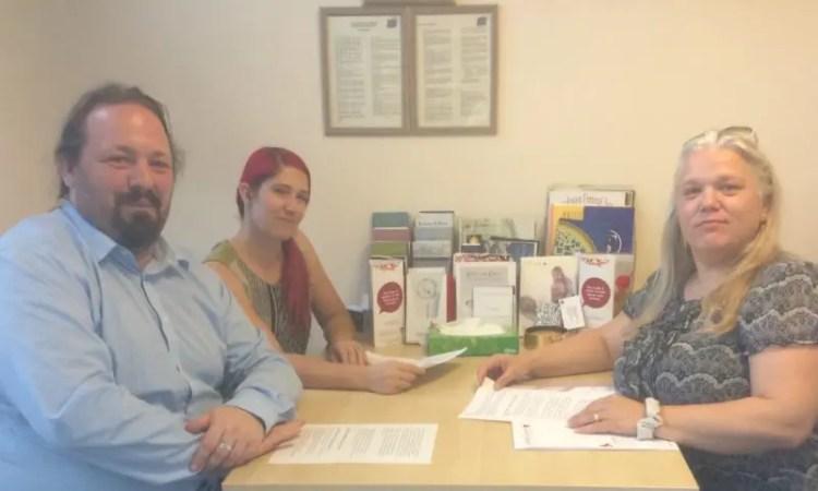 L – R: Vince Maple, Natasha-Boardman Steer and Andrea Button