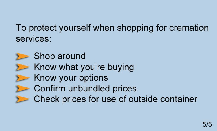 Cremation Shopping Tips