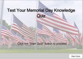 Memrial Day Quiz