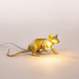 mouse lamp lie down gold