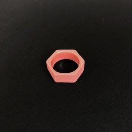 hexagon ring roze