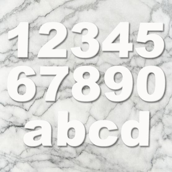 huisnummer arial wit