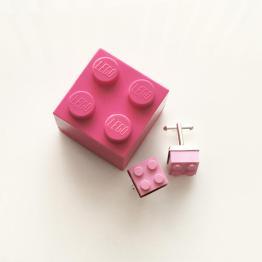 lego sieraden doosje roze