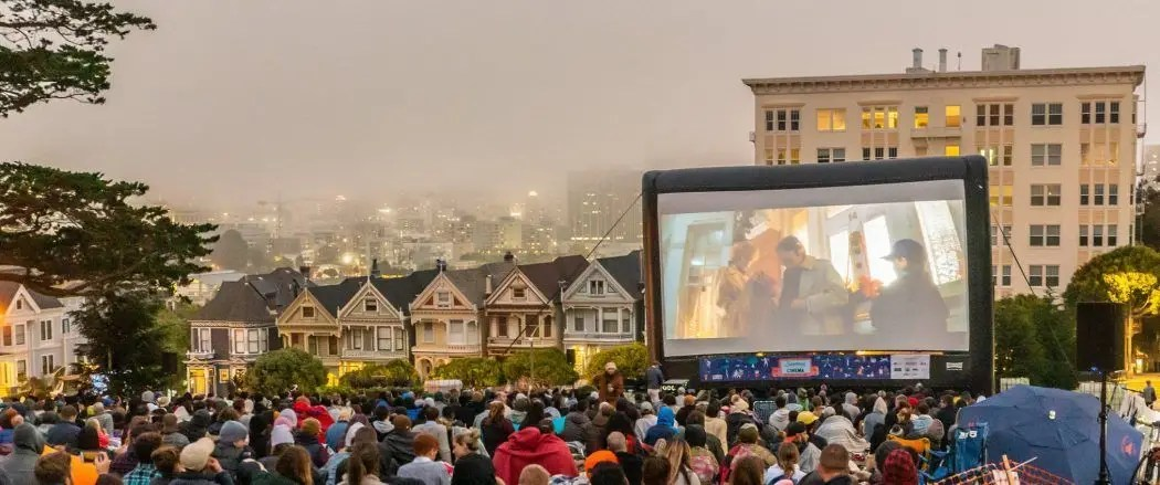 Movie Projection Rentals Chico, CA by Fun Flix Outdoor Cinema Events