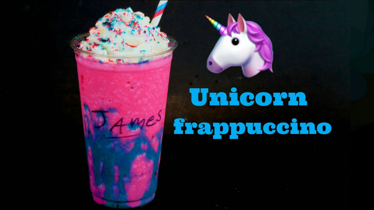 How To Make A Homemade Unicorn Frappuccino Funfoods