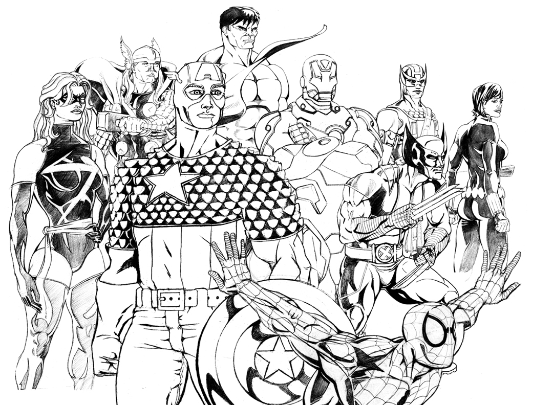 Coloriage Avengers