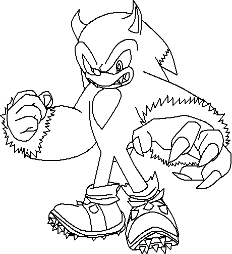 yellow sonic.exe coloring pages coloring pages