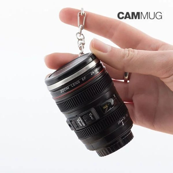 Nyckelring Kameramugg