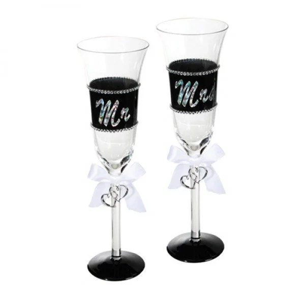 Mr & Mrs Champagneglas