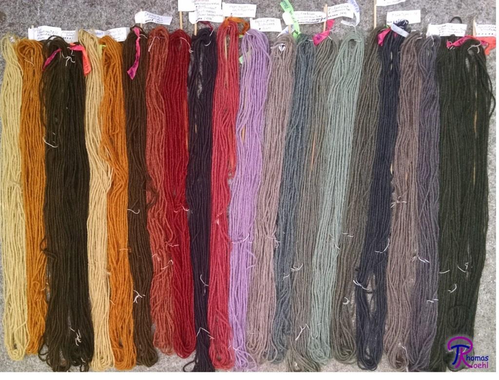 mushroom-dyed wool