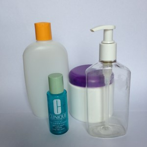 Remove lables from old containers for your new DIY skin care supplies. www.funhappinessandlife.com/DIY-Skin-Care