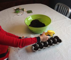 Planting seeds for our vegetable garden a wonderful way to work on fine motor skils into our hectic daily life. #therapythursday #funhappinessandlife #finemotorskills