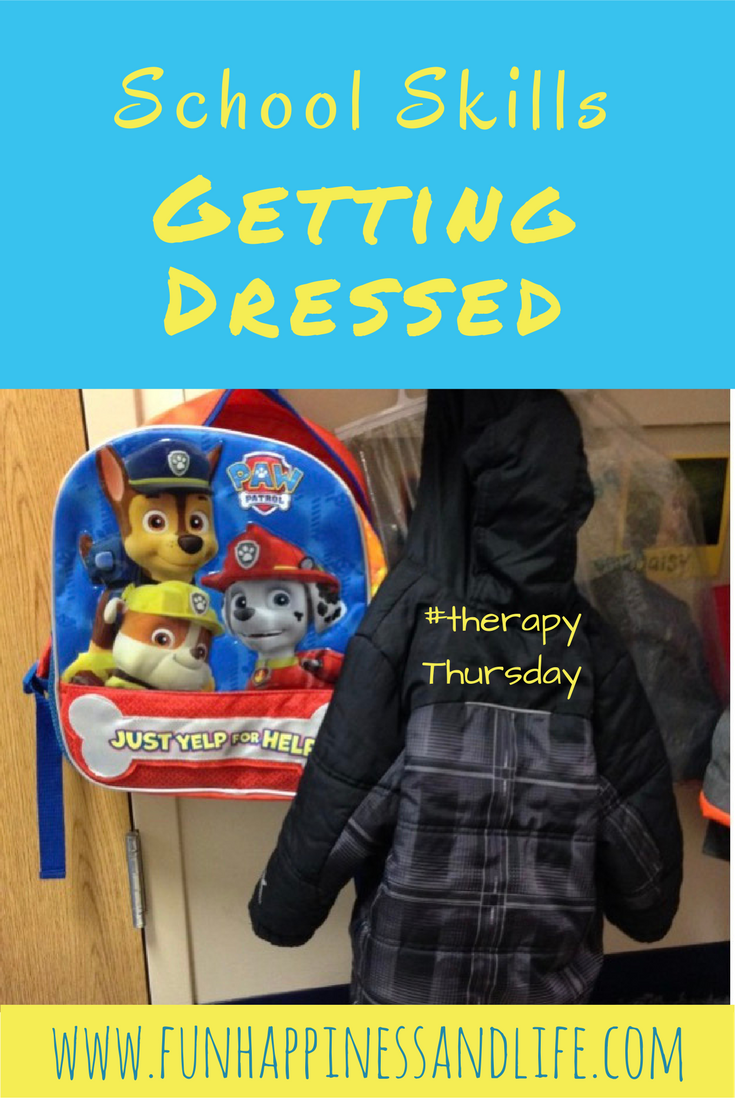 Therapy Thursday: School Skills-Dressing