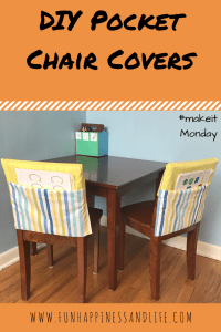 DIY pocket chair covers to add some organization and decluttering to your homework and kids craft area.